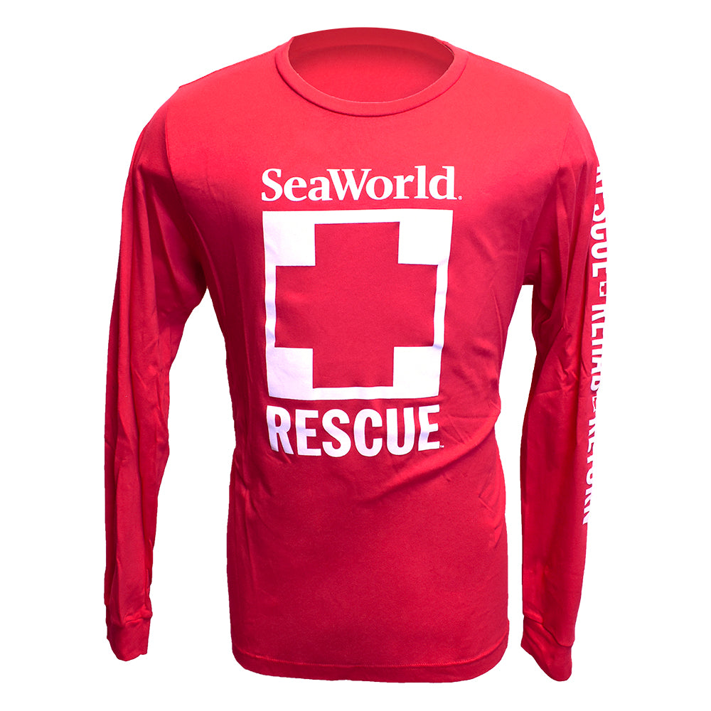 SeaWorld Rescue Long Sleeve Tee - Red