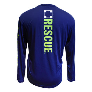 SeaWorld Rescue Rehab Return Long Sleeve Performance Tee - Navy