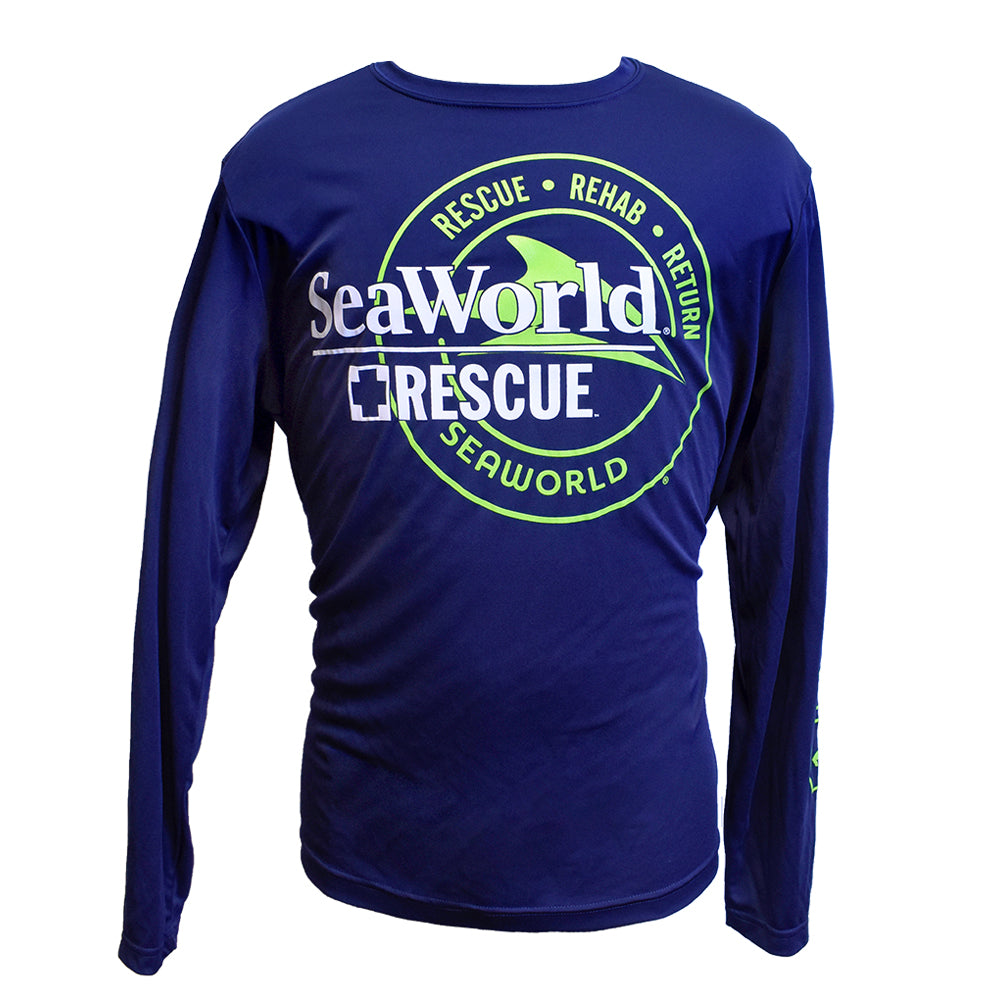 SeaWorld Rescue Rehab Return Long Sleeve Tee - Navy