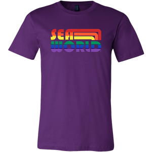SeaWorld Retro Rainbow Text Tee