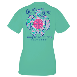 Simply Southern & SeaWorld Go With the Flow Turtle Seafoam Adult