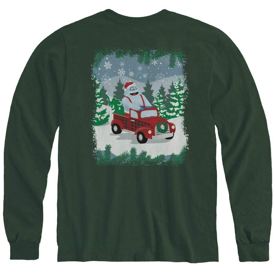 Rudolph the Red-Nosed Reindeer® Bumble Green Adult Long Sleeve Tee