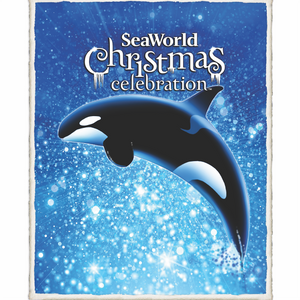 SeaWorld Holiday Blanket Sherpa