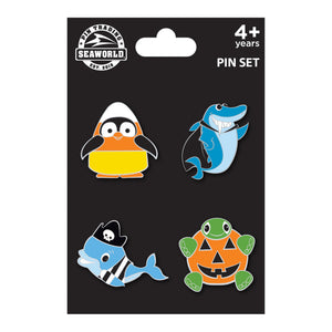 SeaWorld 4 pack Halloween Characters Pin Set