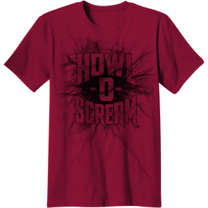 Howl-O-Scream Logo Red Adult Tee