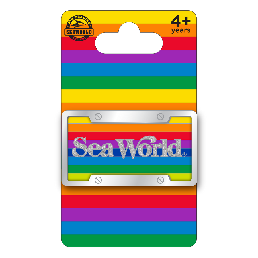SeaWorld License Plate Pin