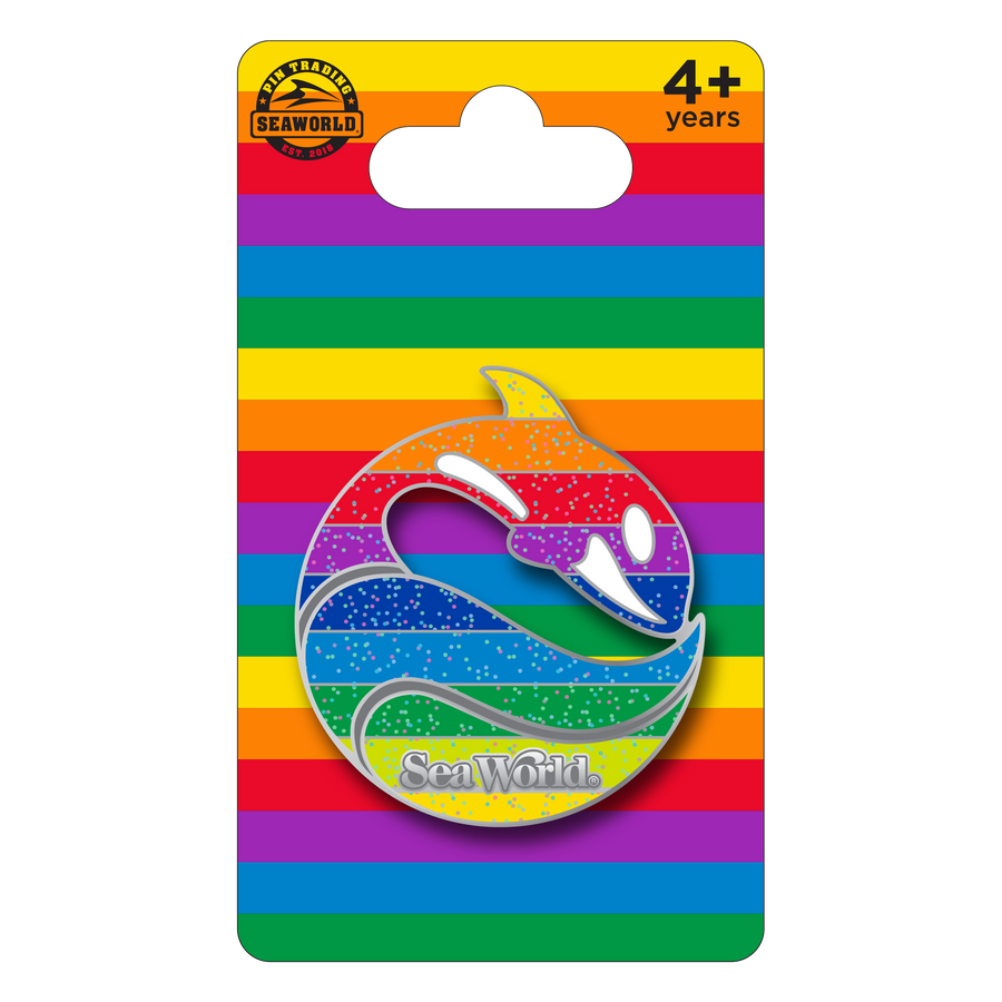 SeaWorld Rainbow Retro Logo Pin