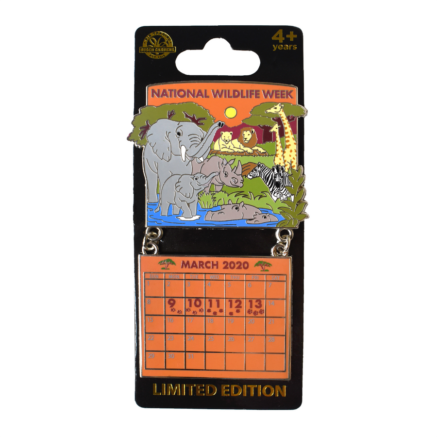 National Wildlife Week March 2020 Calendar Pin