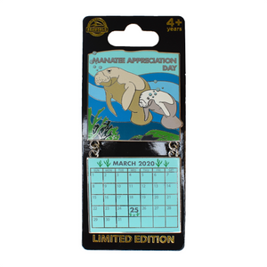 Manatee Appreciation Day March 2020 Calendar Pin