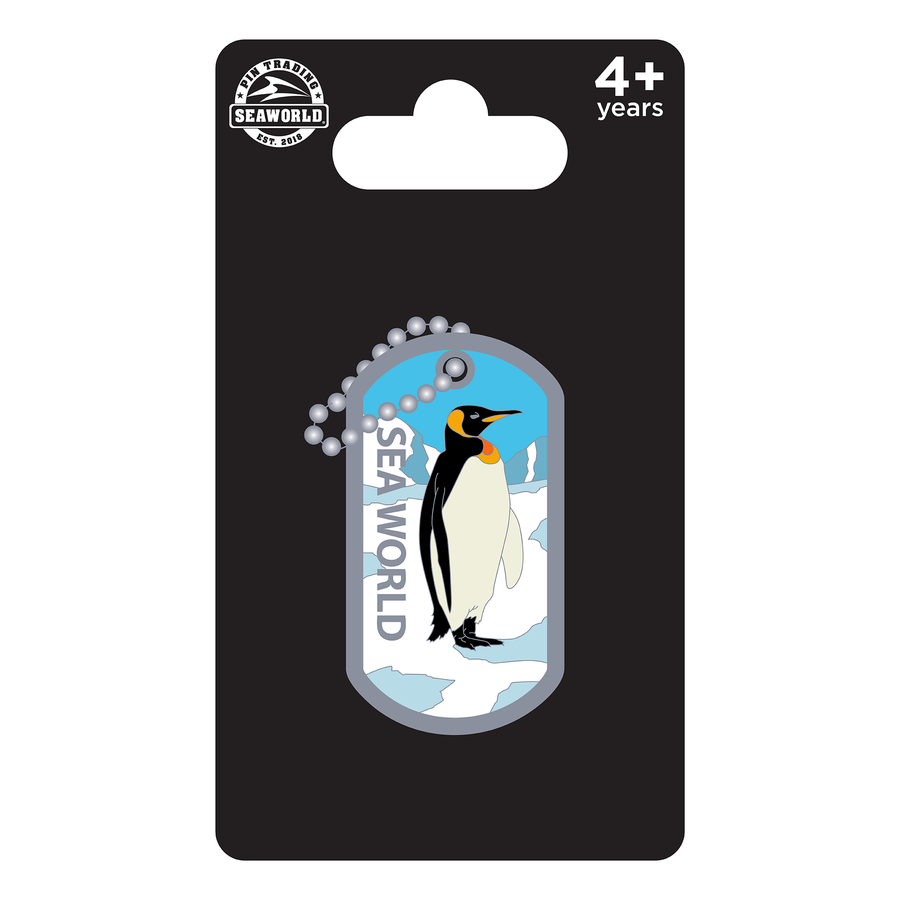 SeaWorld Dog Tag Penguin Pin