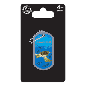 SeaWorld Dog Tag Turtle Pin