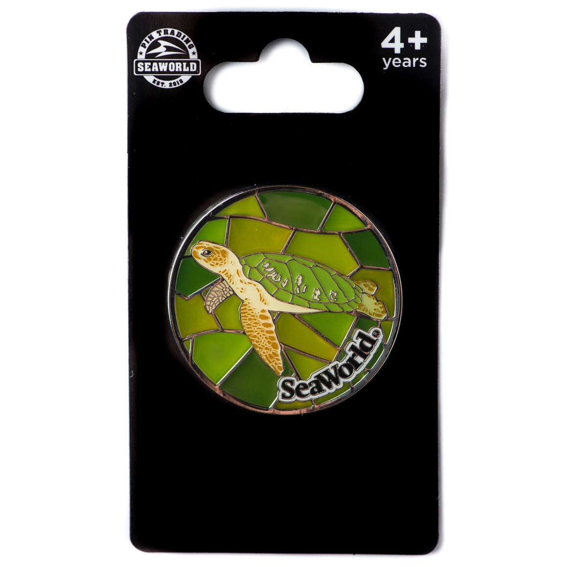 Stained Glass Turtle Pin