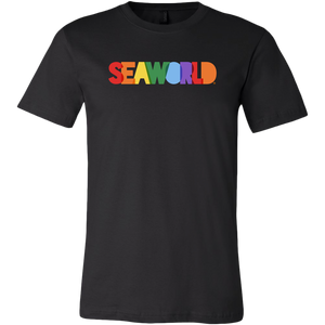 SeaWorld Rainbow Text Tee