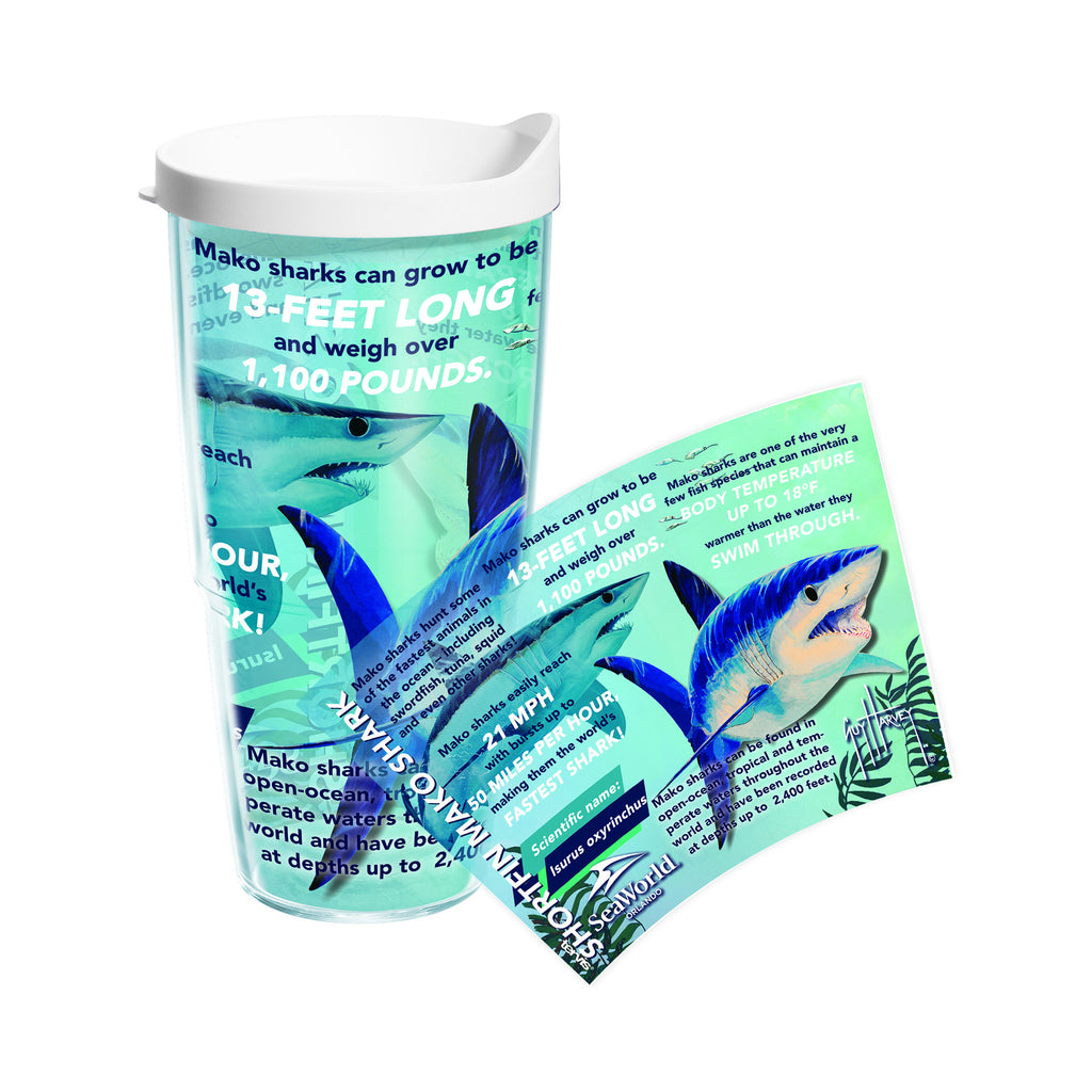 SeaWorld Exclusive Guy Harvey Mako Education Tervis Tumbler