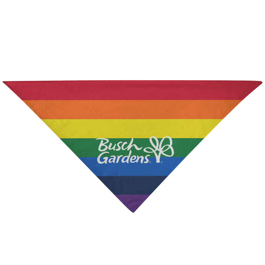 Busch Gardens Rainbow Striped Pet Bandana