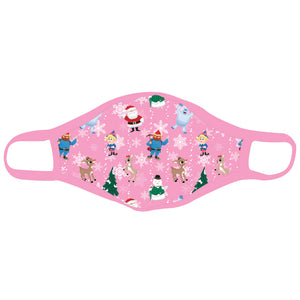 Rudolph the Red-Nosed Reindeer® All Over Print Pink Mask Youth