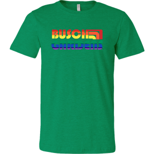 Busch Gardens Retro Rainbow Text Tee