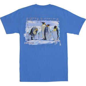 SeaWorld and Guy Harvey Exclusive Antarctica Ocean Blue Adult Pocket Tee