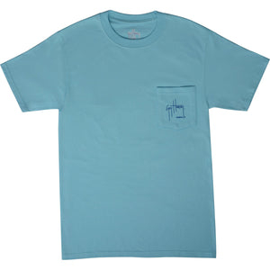 SeaWorld and Guy Harvey Exclusive Save Our Seas Pool Blue Adult Pocket Tee
