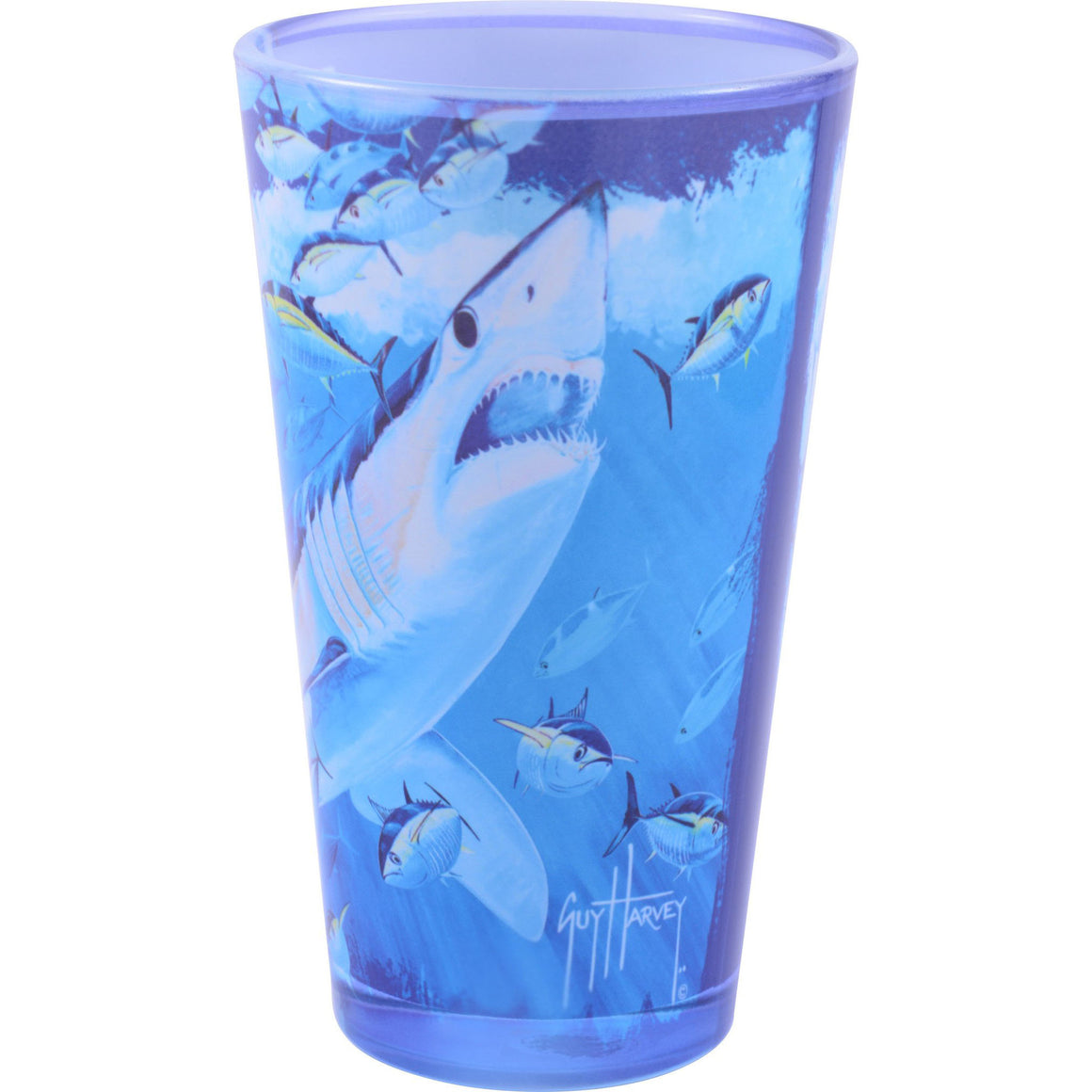 SeaWorld Exclusive Guy Harvey Mako and Tuna Pint Glass
