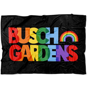 Busch Gardens Rainbow Text Blanket