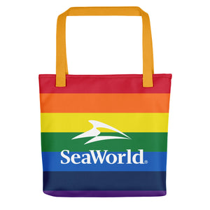 SeaWorld Rainbow Striped Tote bag