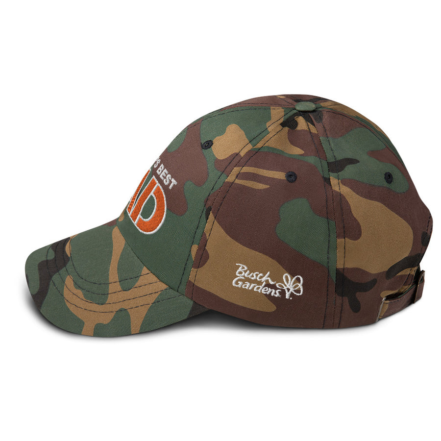 World's Best Dad Camo Cap