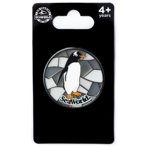 Stained Glass Penguin Pin