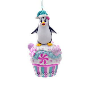 Penguin Cupcake Ornament