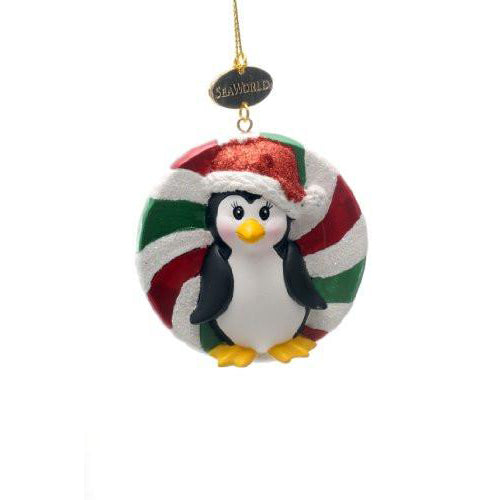 Penguin Candy Resin Ornament
