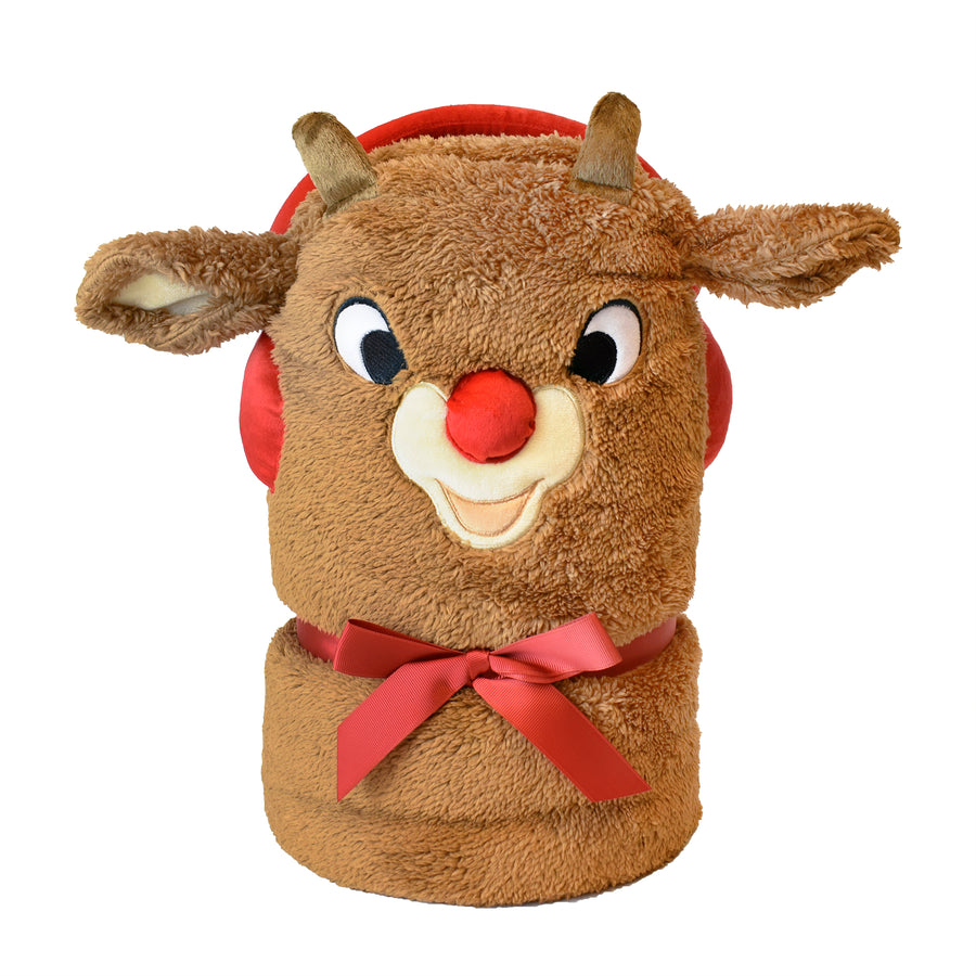 Rudolph the Red-Nosed Reindeer® Rudolph Rolled Blanket