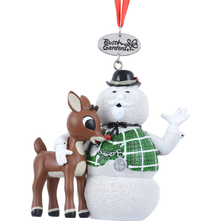 Busch Gardens Rudolph With Sam The Snowman Ornament