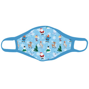 Rudolph the Red-Nosed Reindeer® All Over Print Blue Mask Youth