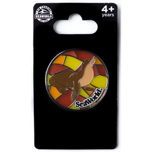Stained Glass Sea Lion Pin
