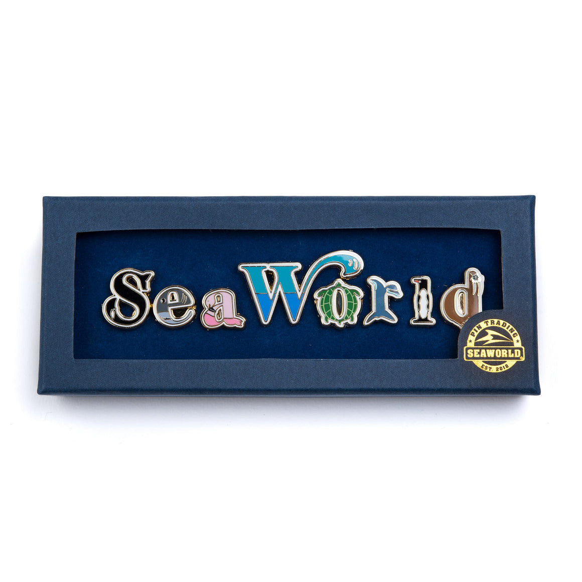 SeaWorld Letters Pins Box Set