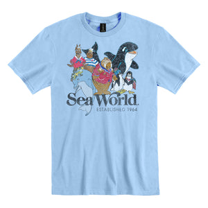 SeaWorld Retro Friends Adult Tee