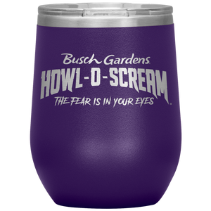 Busch Gardens Howl-O-Scream Wine Tumbler