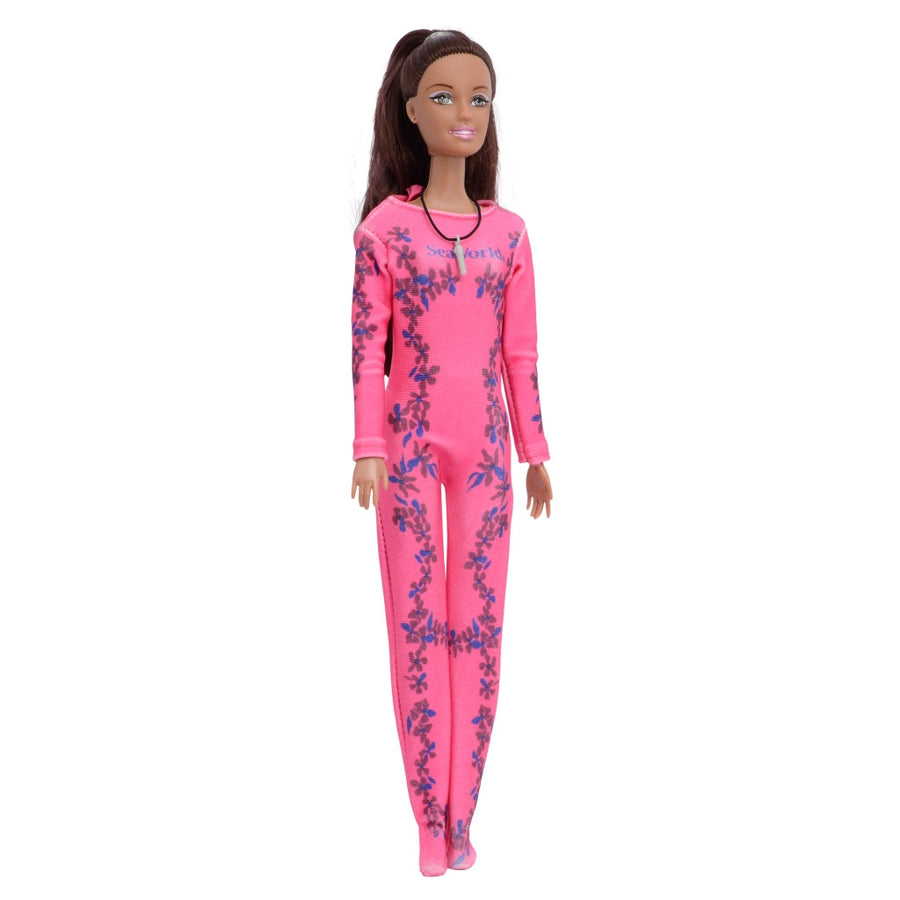 SeaWorld Dolphin Trainer Brunette Doll Playset