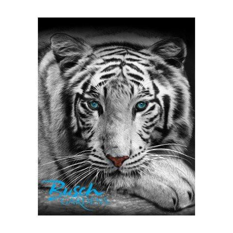 White Tiger Family Size Towel