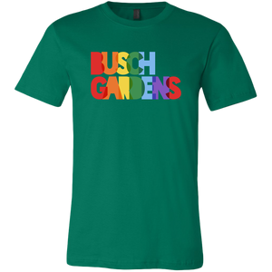 Busch Gardens Rainbow Text Tee