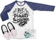 PEANUTS & CRACKER JACKS BASEBALL *SUBLIMATION*