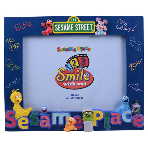 Glitter Sesame Place Character 6 x 8 Photo Frame