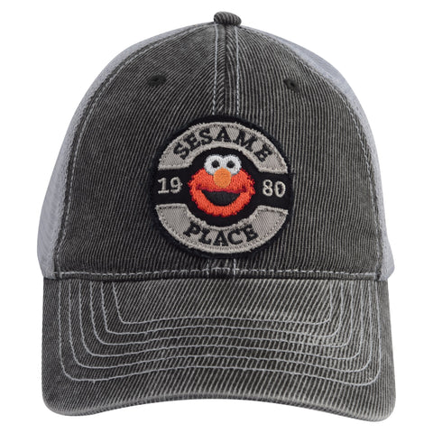 Sesame Place Elmo Patch Trucker Adult Hat