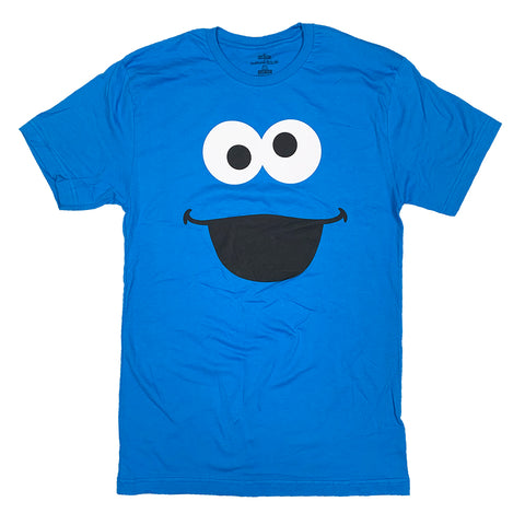Cookie Monster Big Face Adult T-Shirt