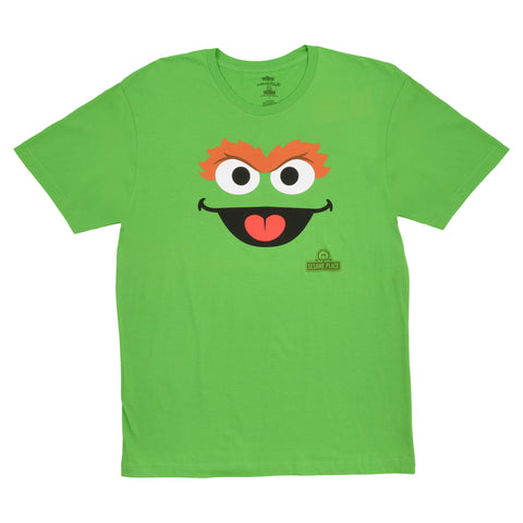 Sesame Place Oscar Big Face Adult T-Shirt