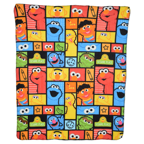 Sesame Place Squares Fleece Blanket