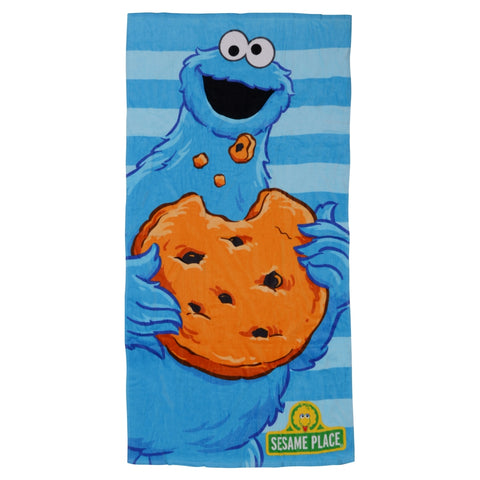 Cookie Monster Striped Beach Towel