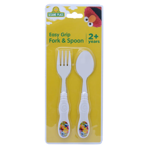 Character Collage Fork and Spoon Set