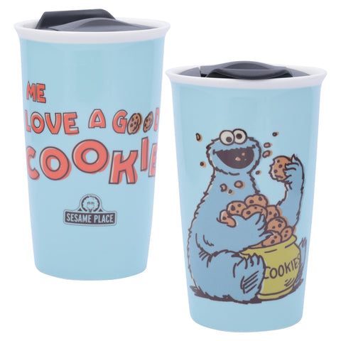 Cookie Monster Vintage Coffee Tumbler