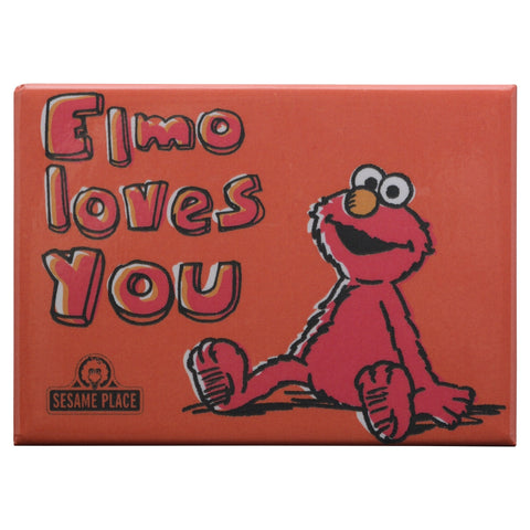 Elmo Loves You Vintage Magnet